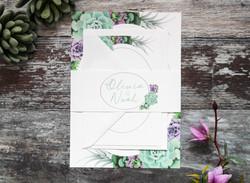 Succulent wedding invitation bundle