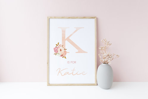 Blush floral print