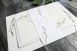 leaf wedding invitation bundle