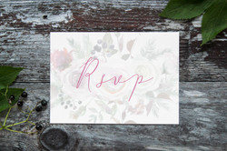 Rustic wedding rsvp cards