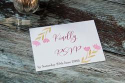 pink floral wedding invitations