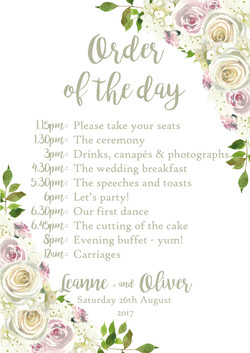 rustic floral wedding signage