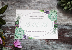 Succulent wedding save the date