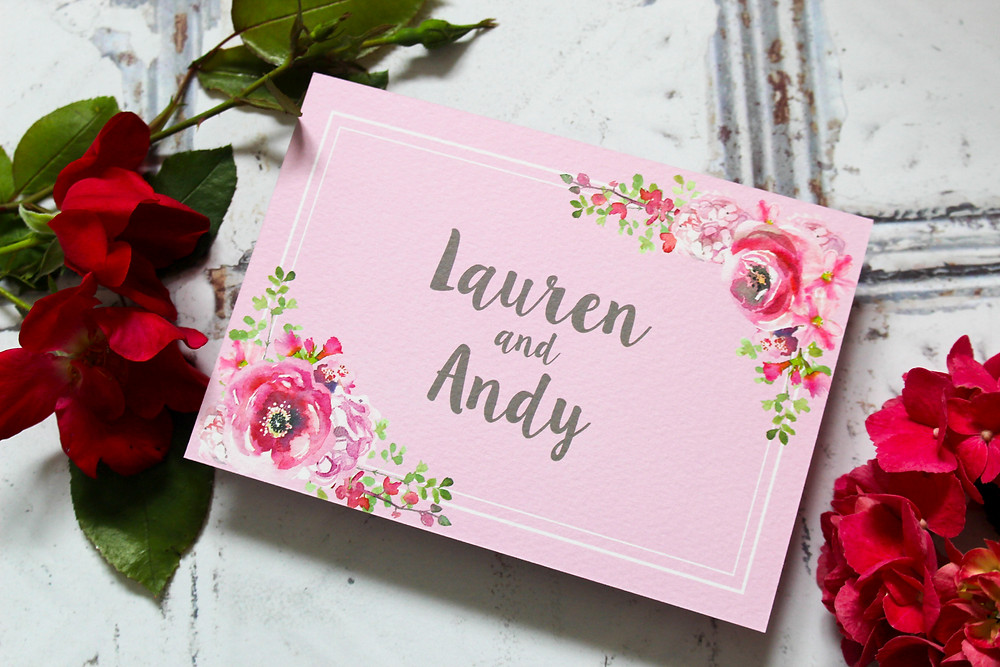 rustic floral bloom save the dates