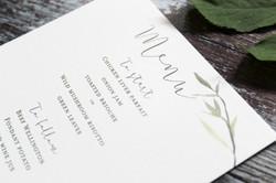 rustic leaf wedding menu