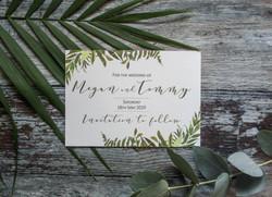greenery wedding save the date