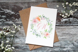 floral wedding save the date