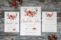 rustic autumn wedding stationery