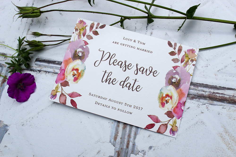 floral wedding stationery west midlands