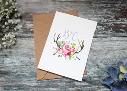 spring floral wedding save the date