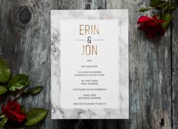 Marble wedding invitations