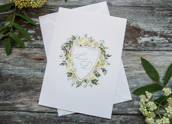 watercolour wedding crest