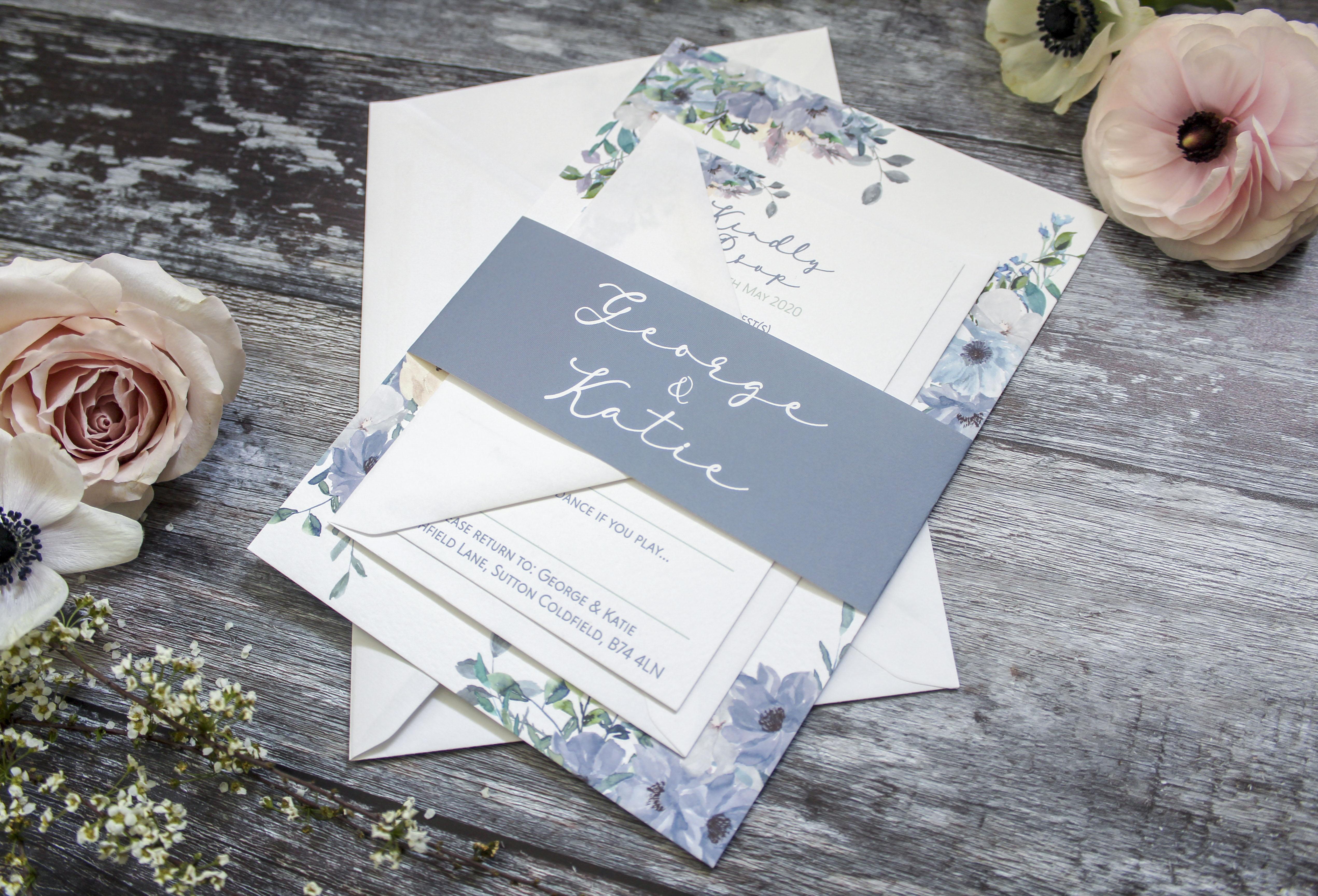 rustic floral invitation bundle
