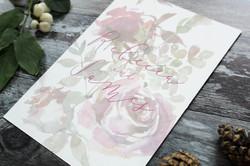 winter floral wedding invitation