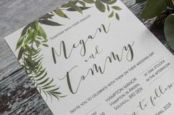elegant greenery invitation