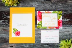 tropical wedding stationery