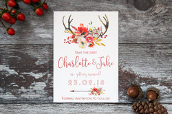 autumn wedding save the date card