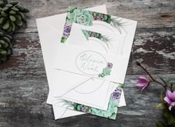Succulent wedding set