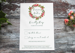 winter wedding rsvp card