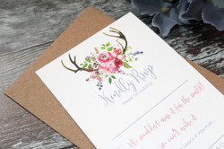 floral spring wedding stationery