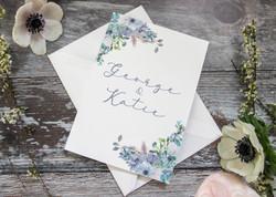 floral wedding stationery
