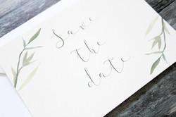 rustic leaf save the date