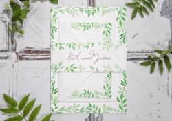 green-leaf-wedding-stationery-set