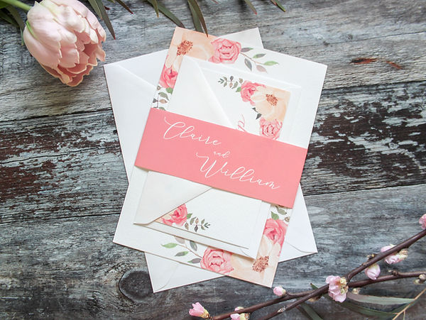 blush pink wedding invitations birmingham