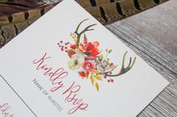 deer antlers wedding stationery