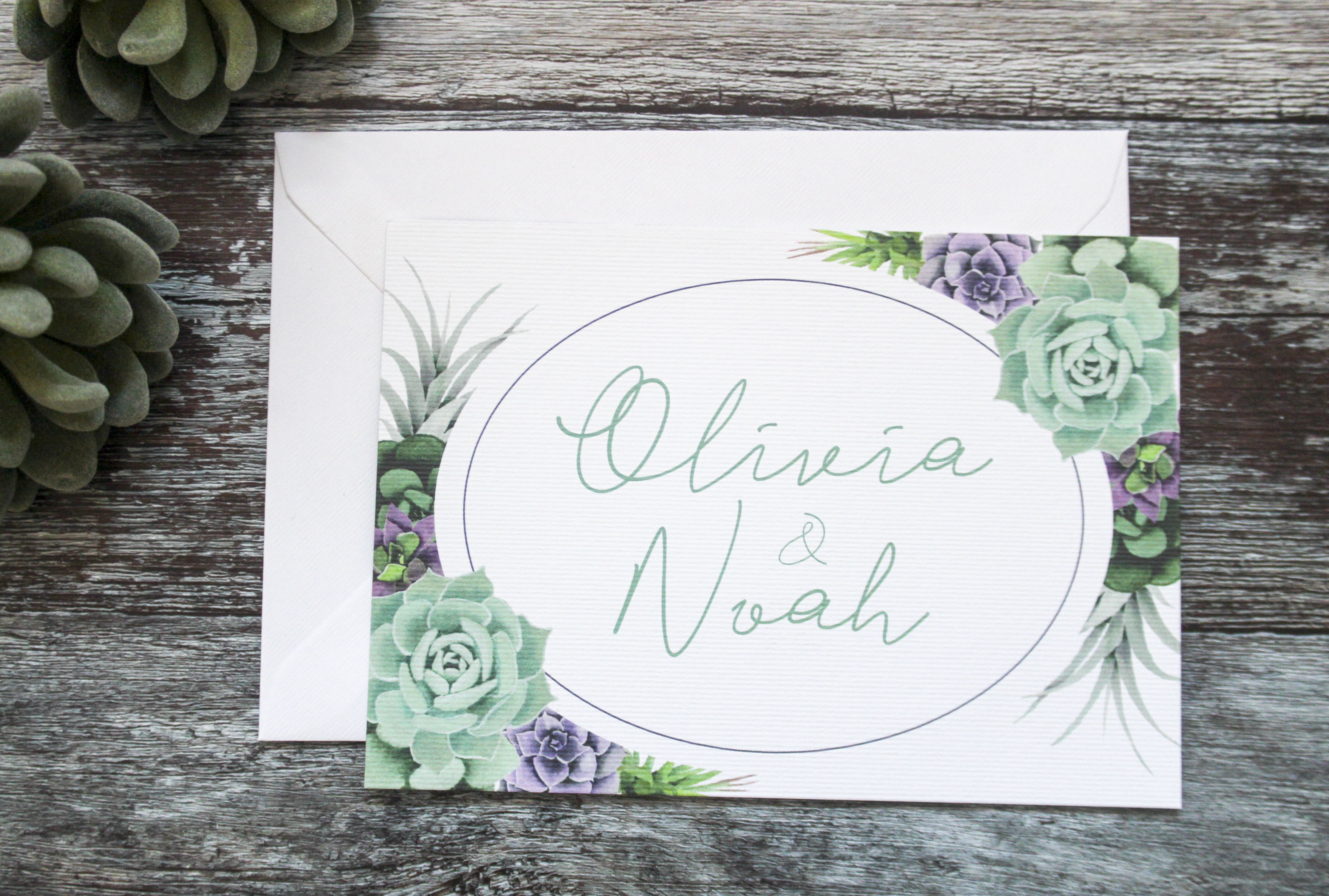 Succulent botanical wedding