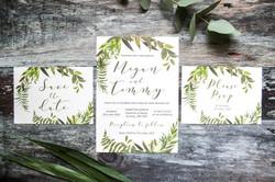 greenery wedding stationery suite