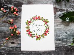 rustic winter wreath invitation