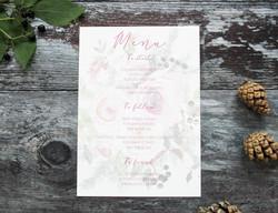 Winter wedding menu