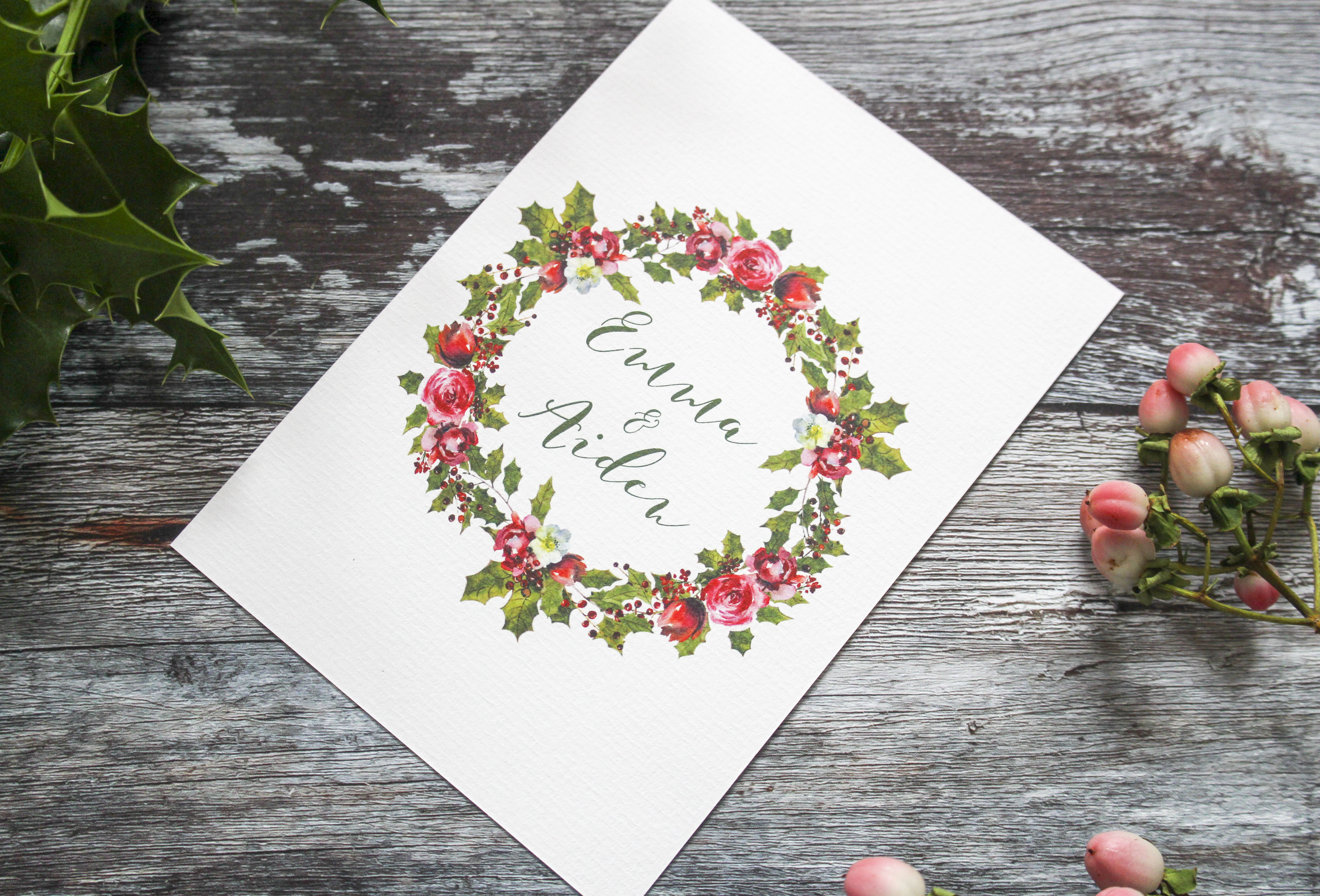 winter wreath rsvp