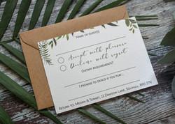 botanical rsvp card