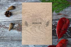 rustic wood deer wedding stationery