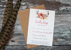 autumn wedding rsvp card