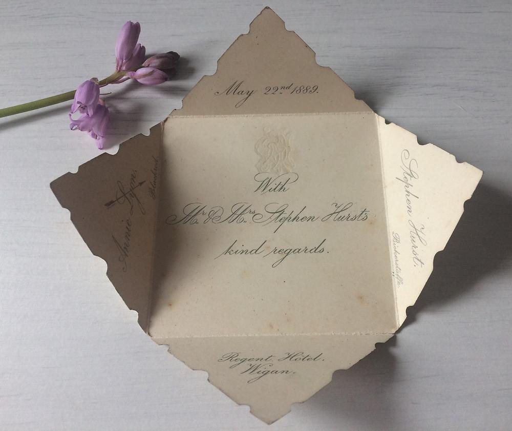vintage wedding invitation i love and love