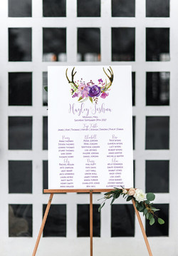 Rustic deer table plan