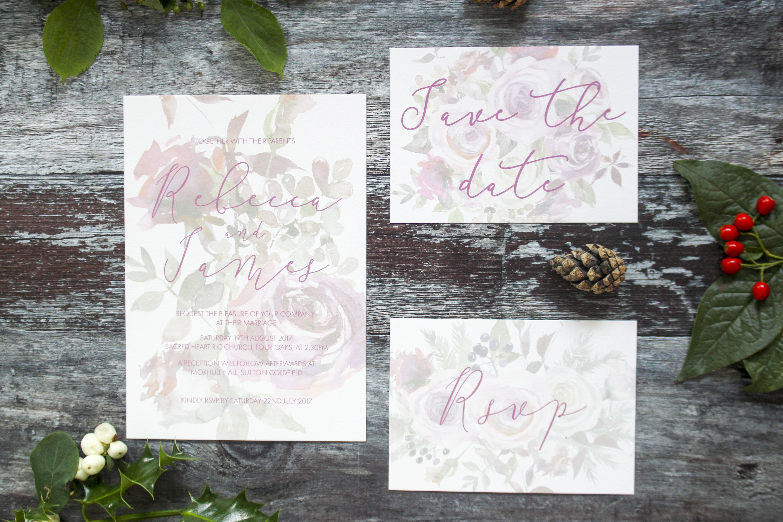winter berry invitation set