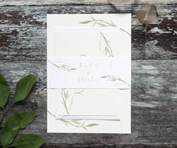 wedding invitation bundle leaf
