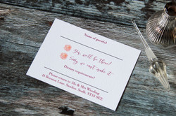 floral rustic wedding stationery