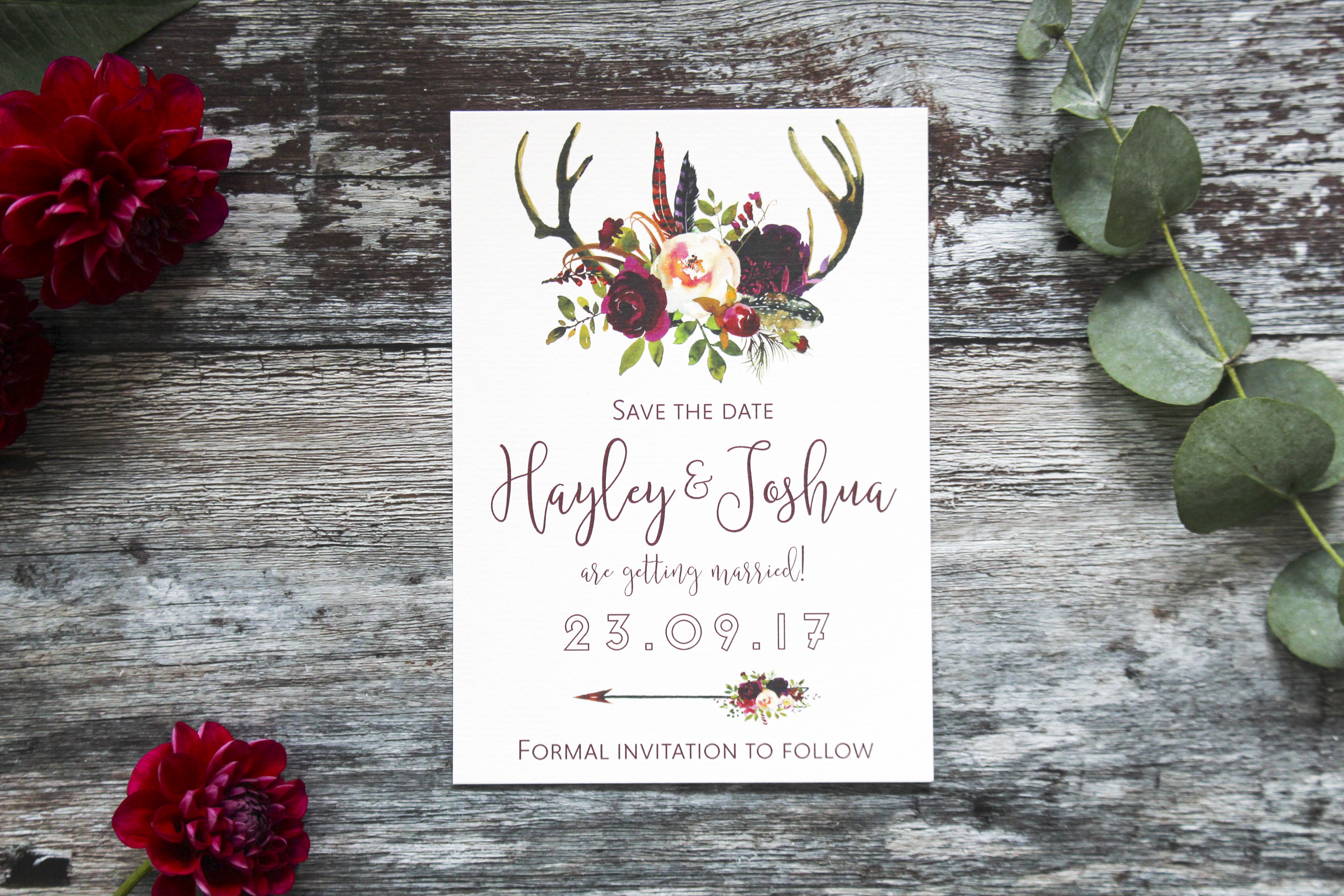 rustic wedding save the dates