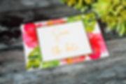 Tropical floral wedding invitations