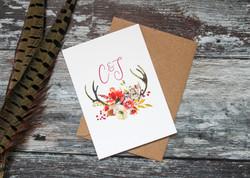 autumn wedding rsvp cards