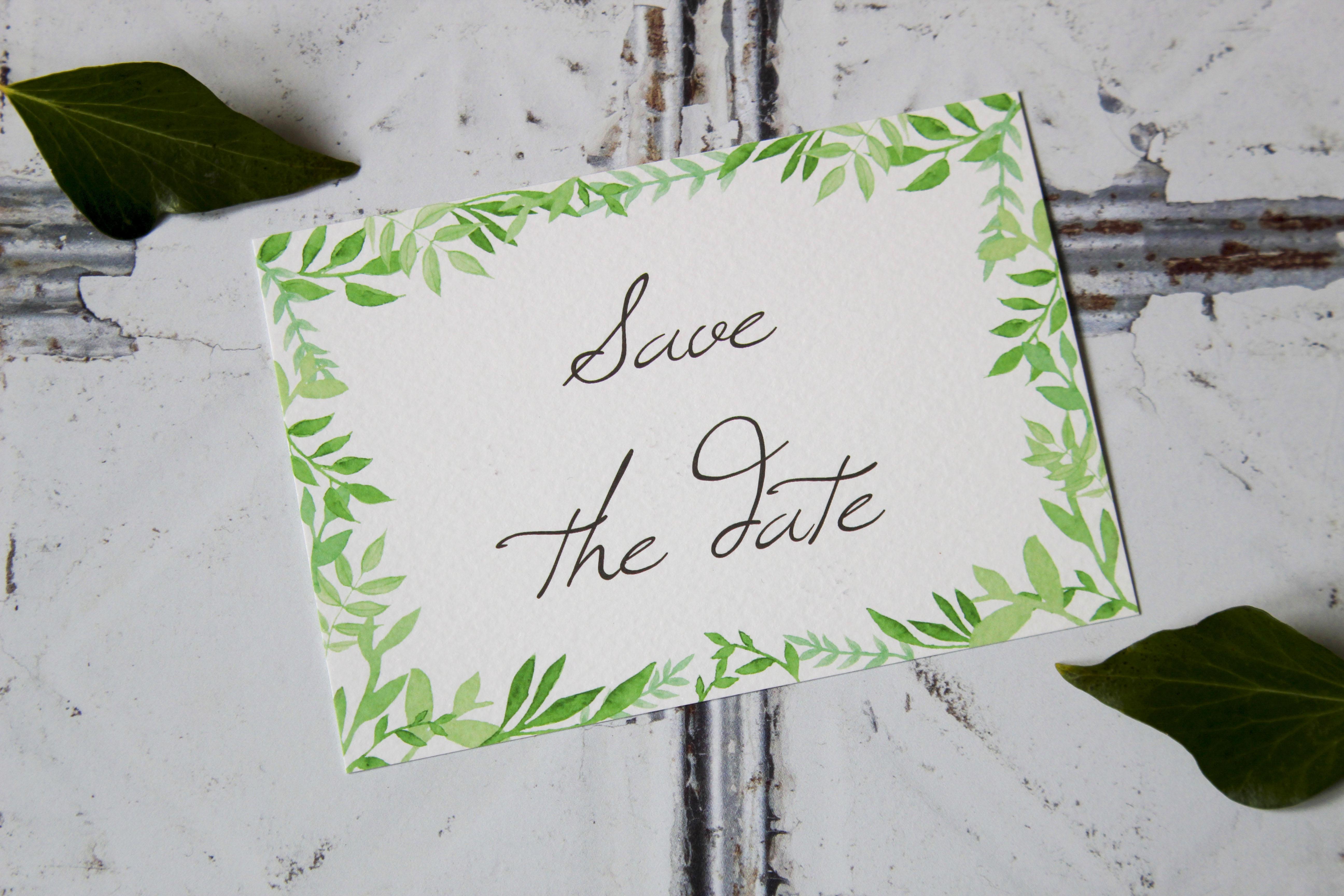 elegant botanical wedding invitation