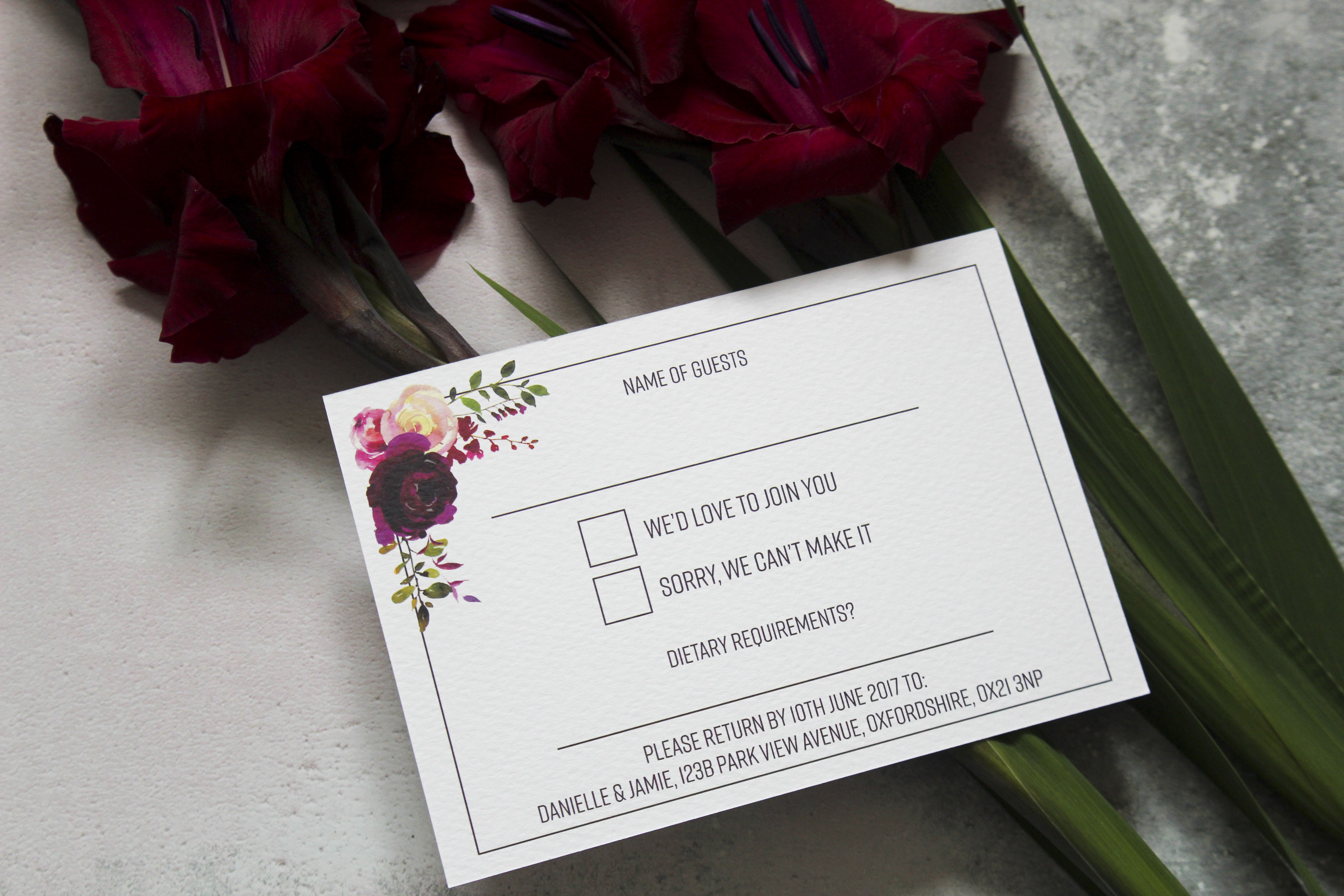 wedding invitations sutton coldfield