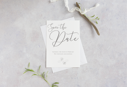 elegant save the date card