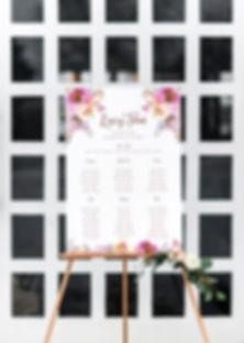 Wedding table plan seating chart