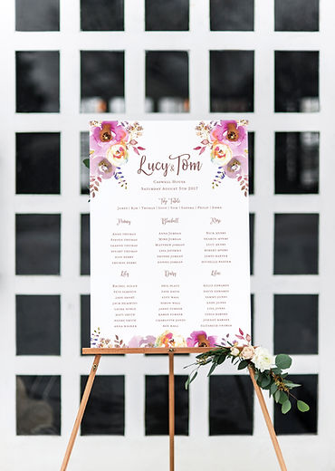 Wedding table plan seating chart